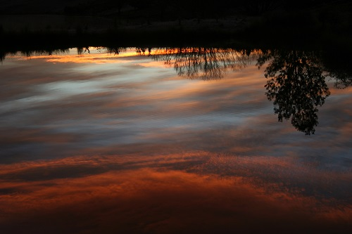 Red sky reflected